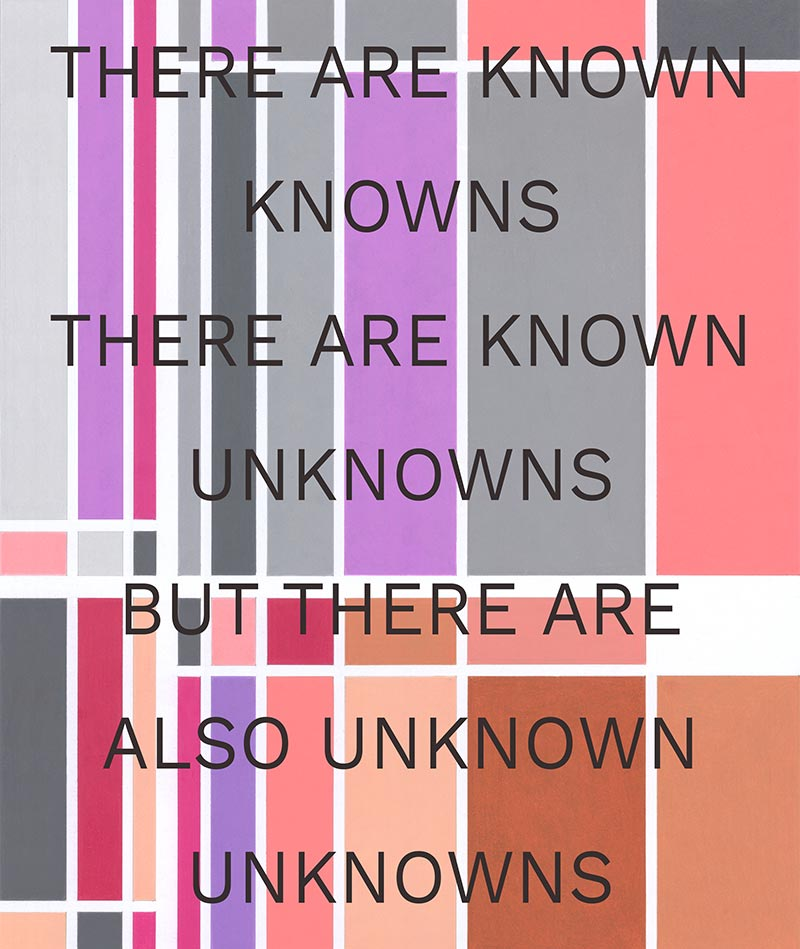 There are known knowns there are known unknowns but there are also unknown unknowns