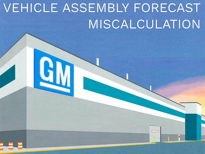 GM Vehicle Assembly Forecast Miscalculation